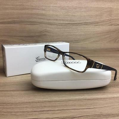 New Gucci GG 3201 Eyeglasses Frames Brown/Blue Z9Y Authentic 53mm