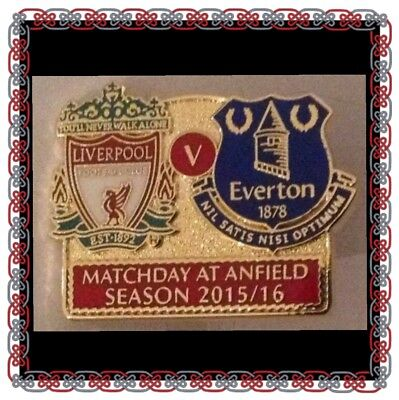 Liverpool v Everton Official Match Day Badge at Anfield 2015/16