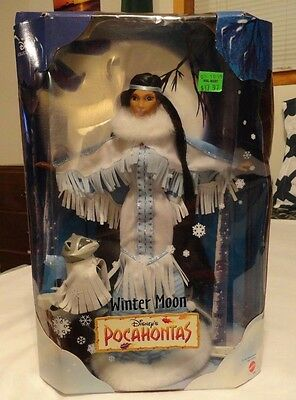Disney's Pocahontas Winter Moon Collectible Doll with Meeko New In Box from 1999