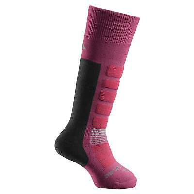 Kathmandu Kids Boys Girls Merino Blend Long Winter Ski Snow Socks Pink