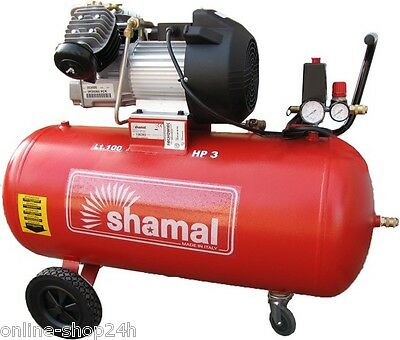 COMPRESSOR AIR TWO PISTONS Single stage SHAMAL SDV100 New