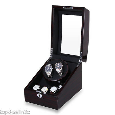Luxury Watch Winder 2+3 Leather Storage Display Case Box Automatic Rotation Gift