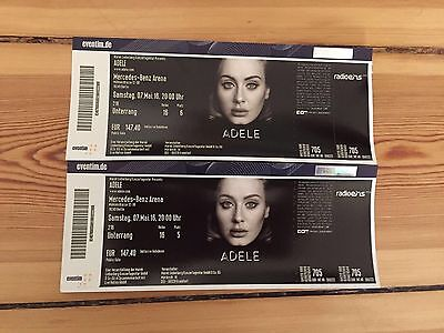 2 tickets f r adele am mercedes benz arena for Mercedes benz tickets