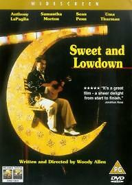 Sweet And Lowdown Dvd Anthony LaPaglia Brand New & Factory Sealed