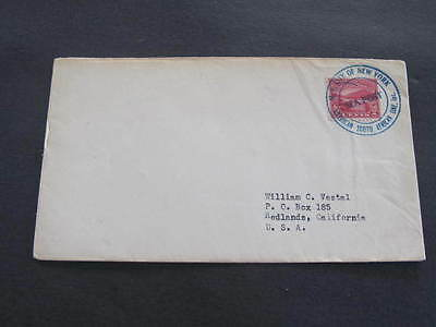 MV City of New York Sea Post Ship American South African Shipping Line Cover