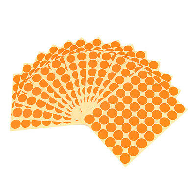720Pcs 25mm Dots Sticker Round Spots Self Adhesive Labels Paper - Orange