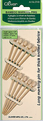 Clover Bamboo Marking Pins very Useful For Thick Chunky Knitted Fabrics - CL3143