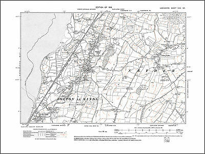 Old map of Bolton le Sands, Nether Kellet, Lancashire in 1919: 24SE repro