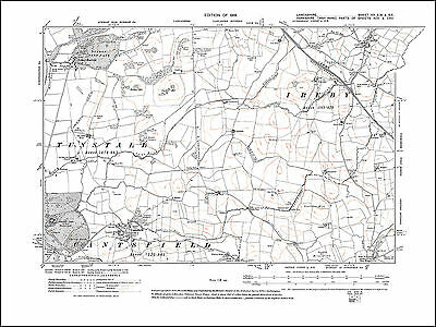 Old map of Cantsfield, Ireby, Nether Burrow, Lancashire in 1919: 20SWSE repro