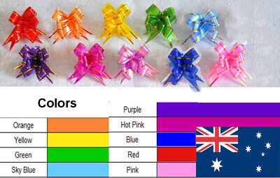 100 Magic Gift Ribbon Pull Bows Gold Edges wide 13mm