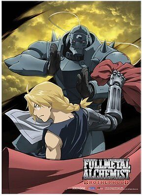 *NEW* Fullmetal Alchemist Brotherhood: Ed & Al Moon Fabric Poster