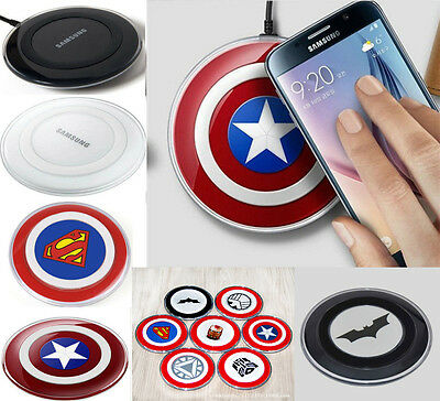 For Samsung Galaxy S6, S6 Edge QI Wireless Charger Charging Pad Plate - 12 type