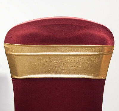 Xmas Silver And Gold Lame Spandex Lycra Chair Bands Wedding Chairs Events Decor