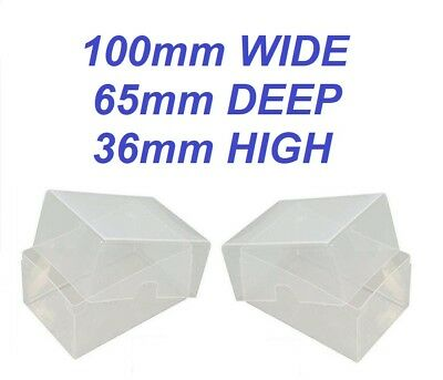 Business Card Boxes - Clear Plastic - Craft Boxes - Storage Container