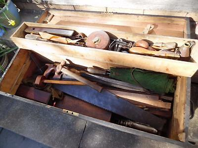 Large Vintage / Antique boxed collection of carpentry tools