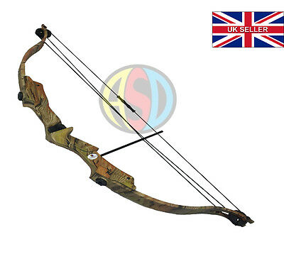 New ASD Hawk Kids / Childs Archery Compound Bow Camo With Arrows, Quiver & More