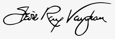 Stevie Ray Vaughan Autograph Design Decal / Sticker for Guitar, or flat surface