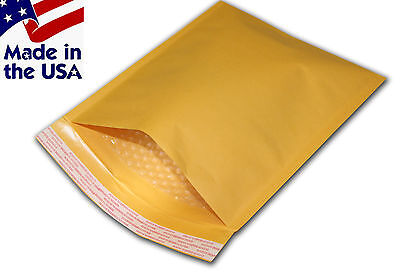 "500 #00 5x10 Kraft Bubble Mailers Padded Envelopes Bags 5""x10"""