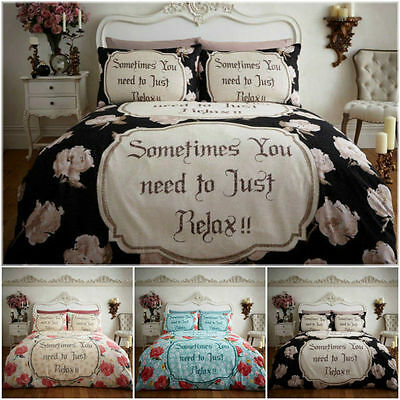 Relax Flannelette 100% Brushed Cotton Duvet Covers Quilt Covers Bedding Sets
