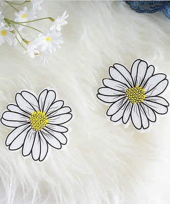White Daisy Flower Pasties, EDC Rave Festival Glow in the Dark Flower Pasties, N