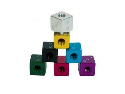 Bicycle Alloy Dice Valve Caps Old School BMX Huge Range of Colours Free Shipping