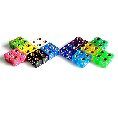 Bicycle Dice Valve Caps In Pairs Lots Of Colours Old School BMX - Free Shipping