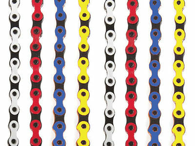 Old School Bmx Kmc 2 Tone Coloured Chain