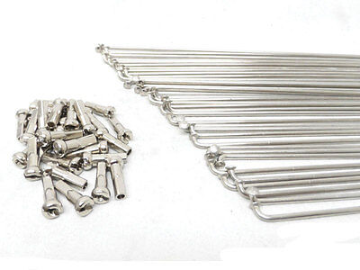Old School Bmx Stainless Steel Spokes 184 Mm,14G, 72 Pcs With Nipples