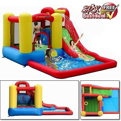 Heavy Duty Bounce House Inflatable Water Slide Pool Splash Kids Jumpers Park Toy