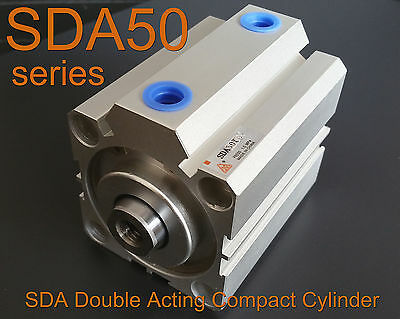 High Quality SDA50x50 Pneumatic SDA50-50mm Double Acting Compact AIR Cylinder