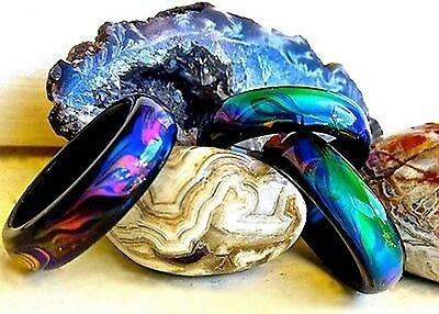 Genuine Black Agate Colour Changing Mood Ring