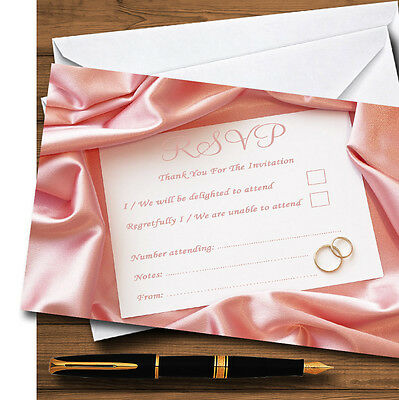Pink Love Note Letter Personalised RSVP Cards
