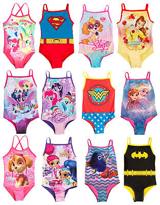 Girls Disney Character Swimming Costume Swim Suit Beach Summer Swimwear Size