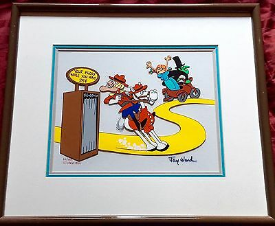 Jay Ward signed cel Dudley Do Right rare special animation art edition cell