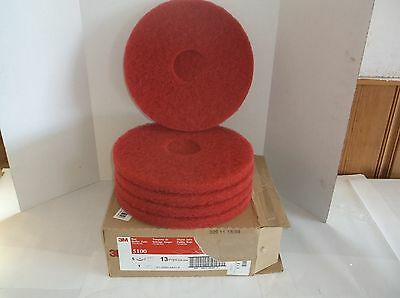 """NEW 3M 5100 13"""" Red Buffing and Cleaning Pad, Non-Woven Polyester Fiber (F18T)"""