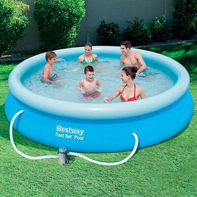 Bestway 12 Foot x 30 inches Fast Set Pool Set Pump Swimming Garden Summer