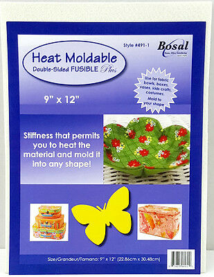 NEW | Bosal 3507-01 Heat Moldable Double Sided Fusible | 56.8x91.4cm | FREE POST