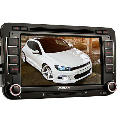 7 Zoll Autoradio Touchscreen DVD Player GPS Navi USB SD Für Golf 5 6 Polo Caddy
