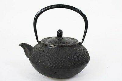 Japanese Nanbu Tekki ARARE Antique Iron Tea Kettle Tetsubin teapot Chagama #5104