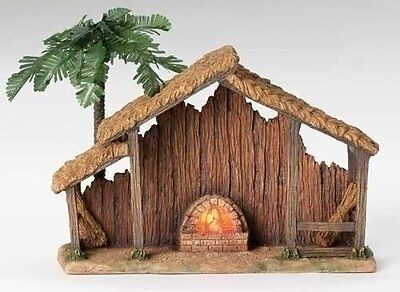 "Roman Fontanini 10"" Lighted Resin Stable for 5"" Nativity (50469)"