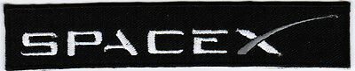 Space Exploration Technologies Corporation SpaceX Emblem Logo Embroidered Patch