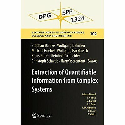 Extraction Quantifiable Information from Complex Systems Dahlke D. 9783319081588