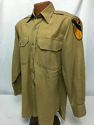 Vintage US Army 1st Cavalry Officers Long Sleeve Shirt