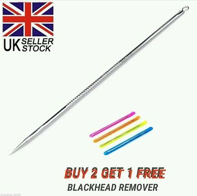 New Stainless Blackhead Facial Acne Spot Pimple Remover Extractor Tool Comedone
