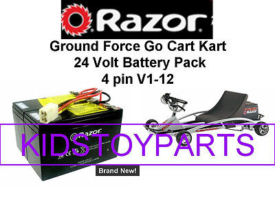 New! 24V Battery Pack for Razor GRAY Ground Force Go Cart Kart V1-12  W/Harness!