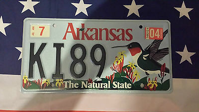 Plaque d'immatriculation Arkansas K189 USA US License Plate