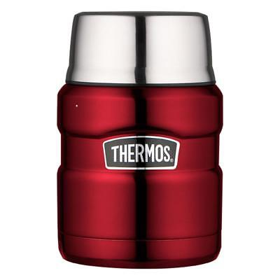 Thermos Speisegefäß Stainless King, Snackdose, Snackbehälter Edelstahl Cranberry