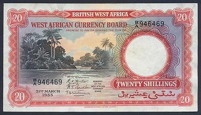 BRITISH WEST AFRICA 20 Shillings 1953 - VF - Pick 10a