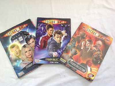 3 X Doctor Who Sticker Album With Stickers