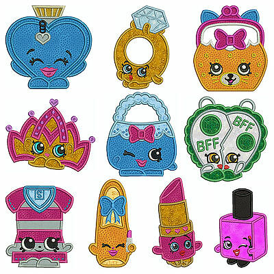 * FASHION SHOP 2 * Machine Applique Embroidery Patterns * 10 Designs, 3 sizes